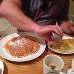 Buttermilk pancakes and hashbrowns