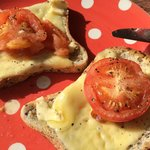 Not exactly what i expected when i ordered cheese and tomato on toast - though i couldnt argue t