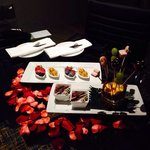 A lovely surprise by hotel for my wedding anniversary