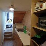 Blick von Küche zum Zimmer