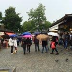 Outdoor market at Marienplatz