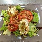 salade de chèvre chaud menu terroir
