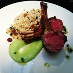Grilled lamb and couscous