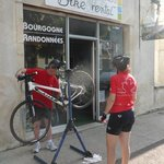 Great bikes in Beaune, France