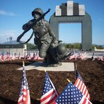 """""""Valor, Fidelity and Sacrifice"""" by Jim Brothers at The National D-Day Memorial in Bedford, VA."""