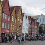 Zona de Bryggen al lado del Hotel