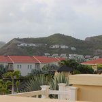View from my balcony and the St.Kitts mountains