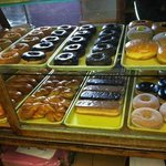 Doughnut Case at Sisters Bakery!