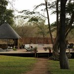 nDzuti deck and pool area