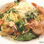 Pasta Primavera with Grilled Shrimp