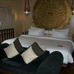 The Bedroom. (Look how big that bed is!)