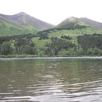 Summit Lake, next to lodge