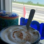 Chestnut Cappuccino with the peaceful ocean view.