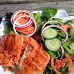 Wild Westcoast Sockeye Salmon and fresh salad