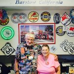 Owners Bill and his wife- almost reason alone to visit this shop and museum!