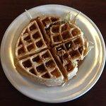 Breakfast of champions! Belgian waffles ROCK!