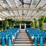 Wedding Ceremony Under the Outdoor Trellis