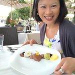 Best hotel restaurant. Choc dessert!