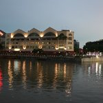 Hotel on right, taken from Clarke Quay