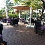 outside deck at Royal Lobby/bar