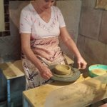 Trying my hand at pottery in Szentendre