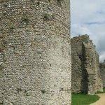 Roman walls - the original Saxon shore fort.
