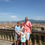 Our Family Picture, overlooking Florence, Italy