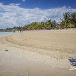 Hermosa playa en Mahahual.