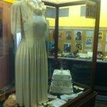 Wedding dress made from a parachute