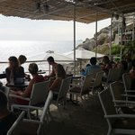 Buze cafe on the rocks on the wall at dubrovnik