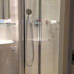 Tiny shower but plenty of hot water
