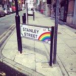 Stanley street sign