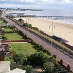 View of Lowestoft Beach and Sea Front from room window
