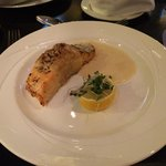 Salmon en Croute - not sure why there's no pastry! Not a great dish