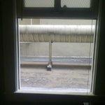 la finestra  con il meraviglioso panorama