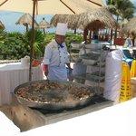tulum paella by pool