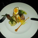 The amazing Swordfish dish with perfect Scottish eegs