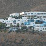 Aegialis Hotel & Spa from Aegiali port