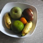 Fruit platter in our room.  Nice welcome detail.