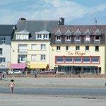 L'hôtel vue de la Plage à marée basse