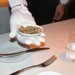 truffle shavings at the Ocean Restaurant