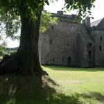View from the wooded area behind Huntingtower Castle