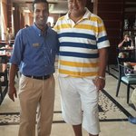 Mr. Mohamed Idriss (Restaurant Manager) and I