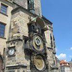 The Astronomical Clock directly across the street