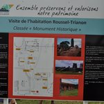 Visite de l'habitation Trianon-Roussel