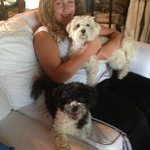 Olivia, our doggie-sitter with our boys.