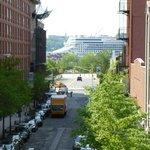 A cruise ship sailed by!
