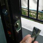 Broken lock of the window