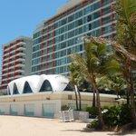 Hotel side & the Concha