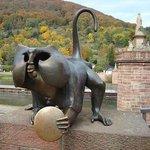 Brass Monkey Statue
